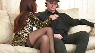 sexy grandmother fucks her grandsons friend