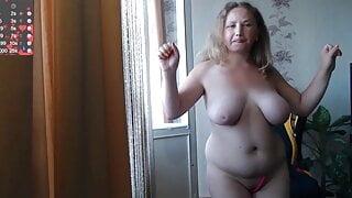 Natasha Naked in her apartment
