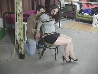 Thanksgiving hog tie bondage Serene isley in a strict chair tie