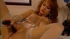 British slut Sarah Jane Hamilton plays with herself