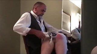 Hot daddy spank her boyfriend (6 clips)