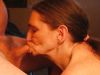 Cum in my mature - Fucking my husband with my mouth cum in my mouth blow job
