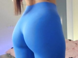 Big tits in lycra Show your body in cute blue lycra outfit