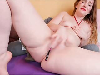 Pink pink pink sexy Sexy ginger jiggling thighs meaty pink pussy feet