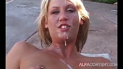 Blonde bitch gets destroyed from all sides