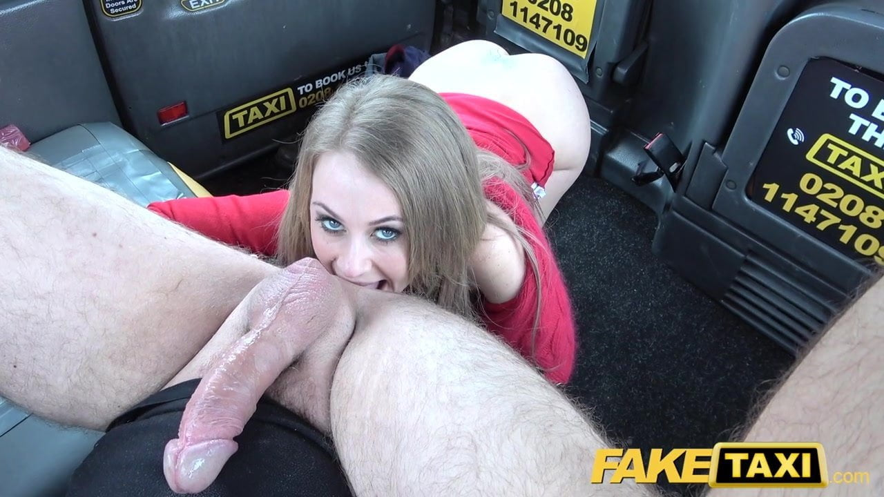 Black rover gets blowjob in fake taxi