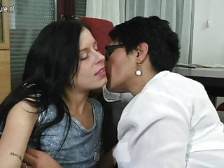 Older lesbian scenes - Hot naughty babe playing with her older lesbian lover