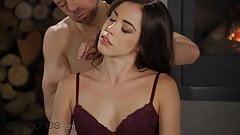 Dane Jones Romantic fireside orgasms for sexy Spanish
