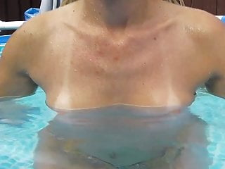 Boobs in hd Wife showing off her boobs in the pool