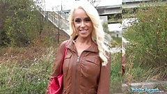 Public Agent Tattooed busty German blonde MILF fucked hard
