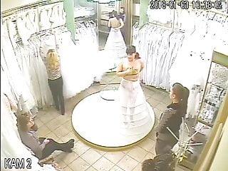 Upskirt pics of wedding dresses - Spy camera in the salon of wedding dresses 4 sorry no sound