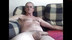 Sexy older daddy masturbates and cums