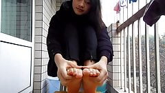 Self Filming Asian Soles
