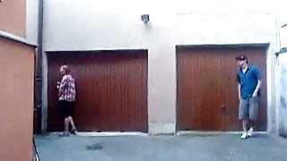 German Boys pissing outside