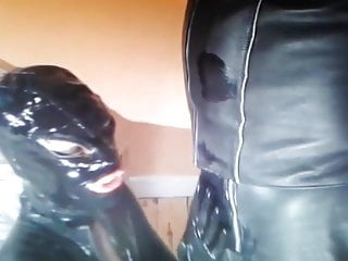 Pvc leather lingerie Lick in pvc and leather nr1