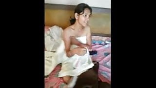 Indian GF Nude Body filmed & exposed by her BF