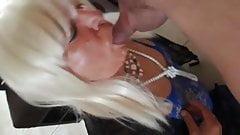 candice sucks a nice cock and gets a facial