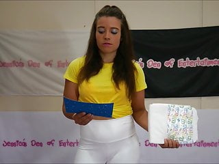 Gay spanking wrestling - Bra panties match strip wrestling - loser gets diapered