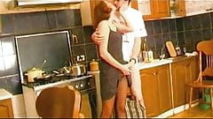 Russian Irene A 29 - Strapon fuck in the kitchen