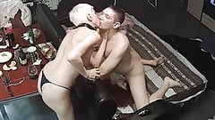 Horny Blonde Milf in Hard Fuck Orgy, Foursome Group Action