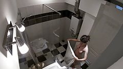 HIDDEN CAM - Spying on my stepsister in the shower
