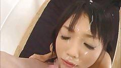 Japoński bukkake na twarz