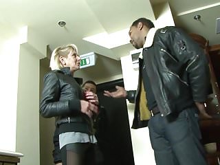 Mature black man Mature blonde wife cheating on husband with black man dick