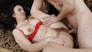 MATURE4K. Man and stepmother are carnal being united