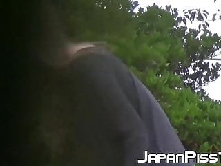 Youtube celebrity peeing in public Young japanese ladies are caught while peeing in public