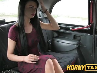 Young brunnette sexy pussy - Hornytaxi young girl with sexy tattoos in backseat creampie