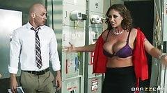 Eva Notty ripping off her shirt