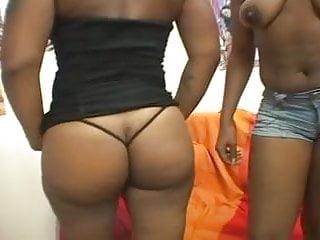 Nude busty ebony Busty ebony teens sharing a white cock..usb
