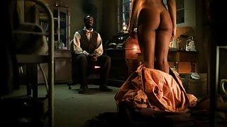 Tessa Thompson Naked Scene from Copper On ScandalPlanet.Com
