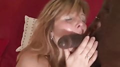 White blonde mature vs BBC cuckold