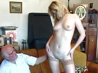 Fucking grandpa Old grandpa fucks young blonde