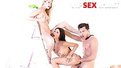 VIP SEX VAULT Sicilia & Sasha Rose Rough Drilled In POV Sex