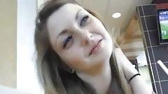 Beautiful Teen Horny At McDonald's
