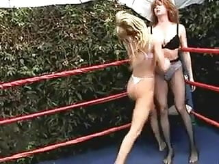 Lesbian in bra Mature bra n panties wrestling