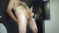 Shooting my big cumshot load into the air - Slow-motion!
