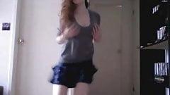 Cute teen strips on webcam