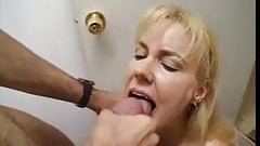 Nice Blonde Mature show her Oral Skills