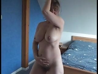 Horniest wet pussy - Busty mature wife shows off her huge tits wet pussy