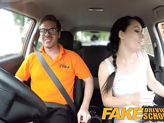 Funny sexy fucking video Fake driving school messy creampie climax for sexy cheat