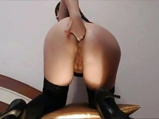 Deep anal midget - Self ass fisting
