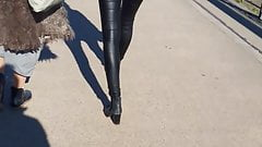 Leather pants teen'ass, very tight and skinny fit