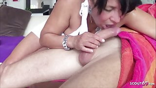 German Housewife Leila Cheat Husband with Friend of her StepSon