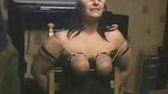 My slut bitch punished. Whipping tits