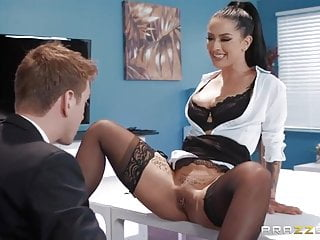 Boss strips secretary spanked with hand Sex office boss secretary passionate hardcore pussy