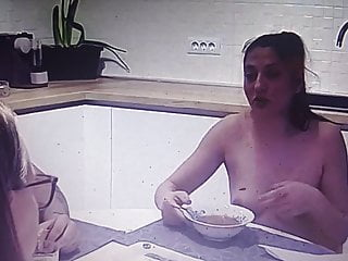Nude people in movies 3 nude people in kitchen and eating