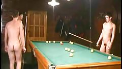 Russian Soldiers Play Pool in Nude